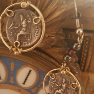 none Jewelry - ANCIENT ROMAN COINS EARRINGS